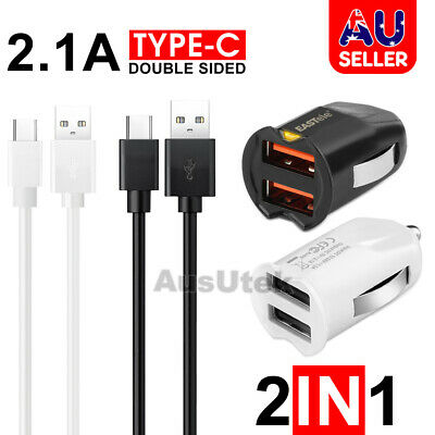 AU6.99 • Buy For Samsung Rapid Dual USB Car Charger Type C Galaxy S9 S10 S20 S21 Huawei OPPO