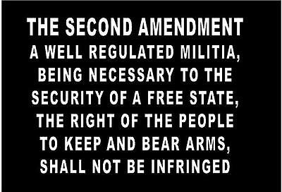 $ CDN9.03 • Buy WHITE Vinyl Decal The Second Amendment Bill Of Rights Guns Constitution Country