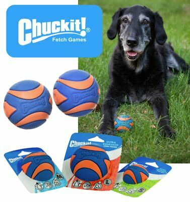 £7.70 • Buy Chuckit Ultra Squeaker Ball Tough Dog Puppy Rubber Floating Toy – Fits Launchers