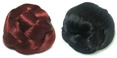 £4.99 • Buy WOMEN CLIP IN HAIR EXTENSIONS PLAIT BRAID BUNS HAIRPIECE X 2 - CHOOSE **NEW**