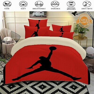 AU41.50 • Buy Sports Basketball Doona Quilt Duvet Covers Set Single/Double/Queen/King Size Bed