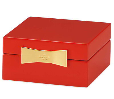 $ CDN44.10 • Buy Kate Spade Garden Drive Square Jewelry Box In Red Lacquer By Lenox New