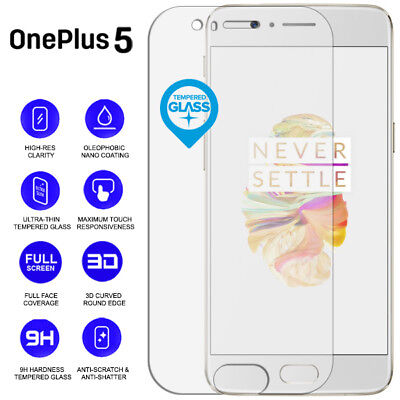 AU9.09 • Buy Clear 3D 9H Tempered Glass Screen Protector Edge To Edge For OnePlus 5 A5000