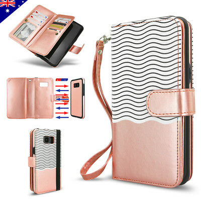 AU15.99 • Buy For Samsung S20 Ultra S10 S9 S8 Plus Note 20 9 Leather Flip Wallet Case Magnetic