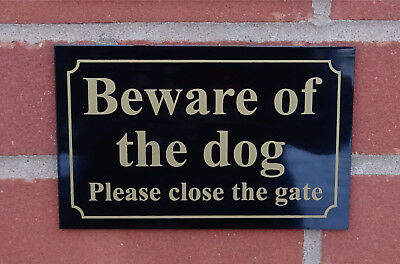 £3.99 • Buy BEWARE OF THE DOG PLEASE CLOSE THE GATE 3MM Dibond Composite Sign Garden Yard