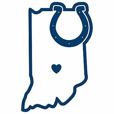 $4.95 • Buy NFL Indianapolis Colts Home State Auto Car Window Vinyl Decal Sticker