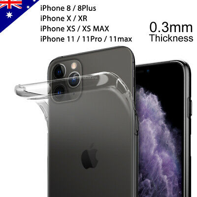 AU3.99 • Buy IPhone 11 Pro XS MAX XR 8 Plus Case Ultra Slim Silicone Clear Cover For Apple