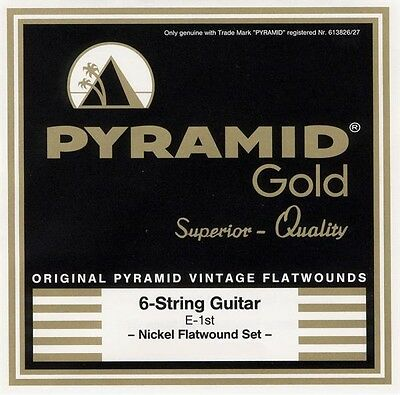 $ CDN23.77 • Buy Pyramid Gold Flatwounds E-Guitar Strings Set Electric Guitar