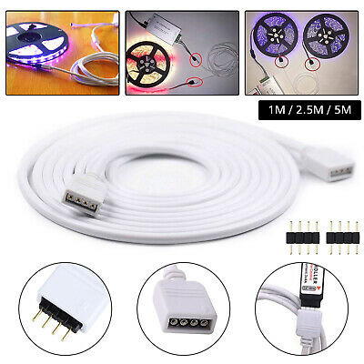 $5.97 • Buy 4Pin Extension Wire Connector For SMD LED Strip Light RGB 5050 3528 Cable Cord