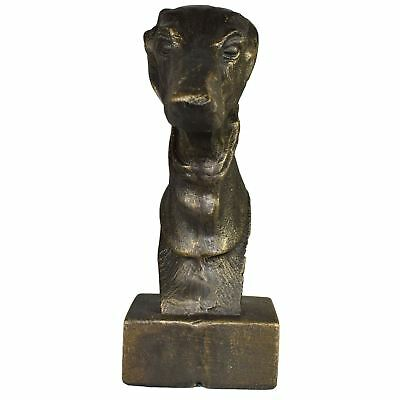 £37.99 • Buy Greyhound Whippet Dog Bust Head Statue Ornament Book End Cast Iron Pair