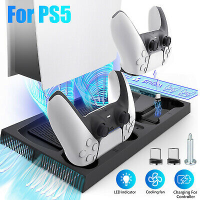 $21.47 • Buy For Xbox One X Dual Controller Charger Station Vertical Stand Cooling Fan Holder