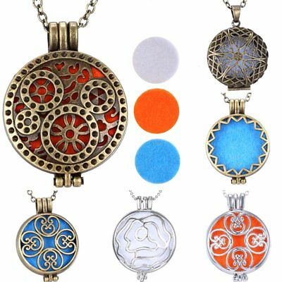 AU4.43 • Buy Aromatherapy Essential Oil Diffuser Necklace Stainless Steel Locket Pendant Gift