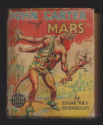 John Carter Of Mars Edgar Rice Burroughs Better Little Book 1940 • 79.95$