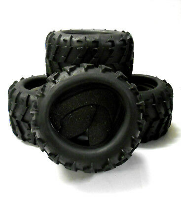 DJ-002 1/8 Scale RC Off Road Monster Truck Rubber Tyres Tire X 4 Tractor Tread • 26.99£
