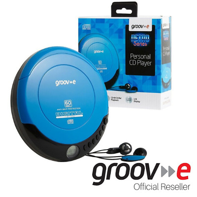 £24.99 • Buy Groove GV-PS110 Retro Personal CD Player - Blue