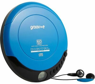 Groove GVPS110/BL Personal CD Player, Blue • 23.99£