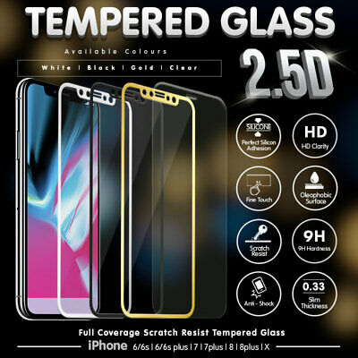 AU1.99 • Buy New Tempered Glass Screen Protector For Apple IPhone 8 7 6 6S Plus Full Cover