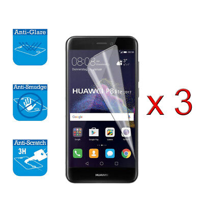 For Huawei P8 Lite 2017 Screen Protector Cover Guard LCD Film Foil X 3 • 1.99£
