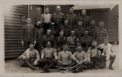 WW1 Soldier Group Lancashire Fusiliers Hutted Camp Milford Surrey • 14.99£