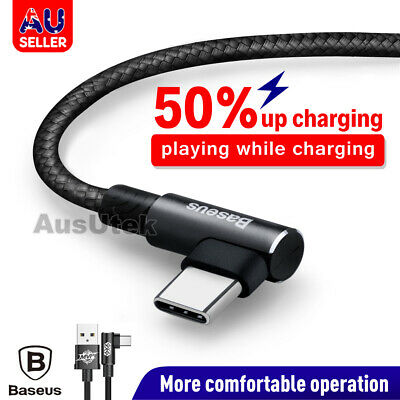 AU8.45 • Buy Fast Braided Type-C USB-C Male Data Snyc Charger Cable For Samsung Google HUAWEI