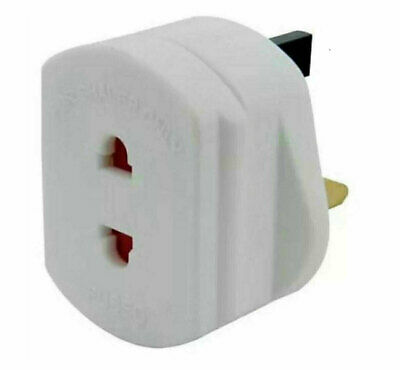 Omega UK 1A Electric Shaver Plug Adaptor Oral-B Toothbrush 2 To 3-Pin Converter • 3.95£