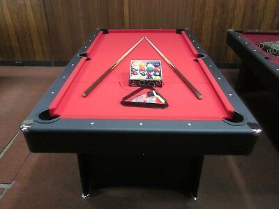 AU539.95 • Buy Deluxe 7 Foot Red Felt Pool Table With Accessories  New 2020 Model [red]