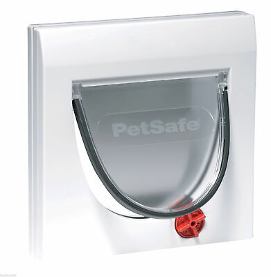 Staywell Petsafe 917 Cat Flap Door 4 Way Locking With Tunnel Upto 60mm Thick • 17.84£