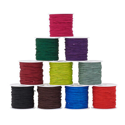 $ CDN26.81 • Buy 10 Rolls Elastic Cord Crafts Jewelry Making Cord Mixed Color 1mm About 21m/roll