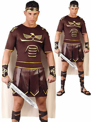 £15.95 • Buy Mens Gladiator Costume Adults Spartan Greek Warrior Soldier Fancy Dress Outfit