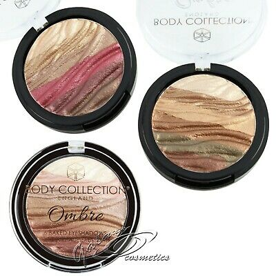 Body Collection Ombre BAKED Eyeshadow Metallic Eyes High Pigmented 6 Colour Wave • 4.45£