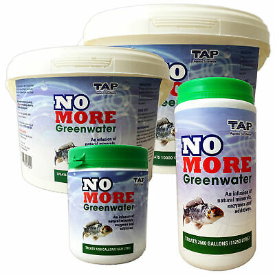 £8.99 • Buy TAP NO MORE Greenwater Green Water Clear Treatment Remover Garden Fish Koi Pond