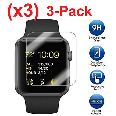 $ CDN2.89 • Buy 3-PACK Premium Tempered Glass Screen Film Protector For Apple Watch Series 1 & 2