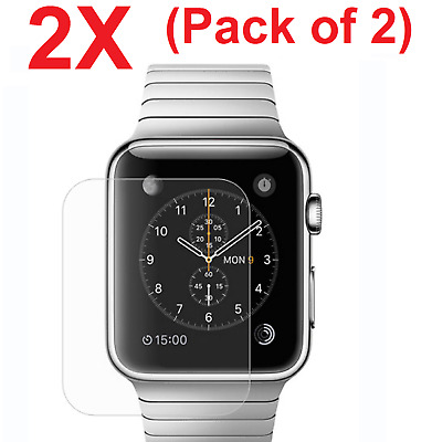 $ CDN1.69 • Buy 2-PACK Tempered Glass Screen Protector For Apple Watch 38mm/42mm (Series 1 & 2)