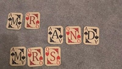 Alice In Wonderland Playing Card Mr And Mrs Bunting/banner Wedding Decoration • 6.99£