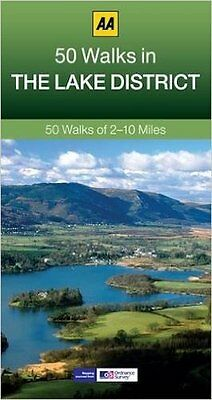 Aa __ 50 Walks In The Lake District __ Brand New ___ 2017 Reprint __ Freepost Uk • 5.95£