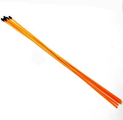 RC Buggy Receiver Wire Antenna Pipe With Caps X 5 Fluorescent Orange 38cm • 6.99£