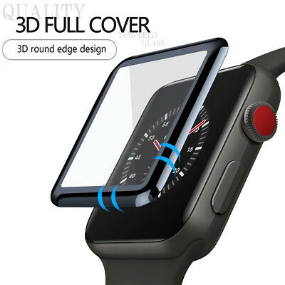 $ CDN3.18 • Buy For Apple Watch Series 5/4/3/2/1 3D Full Edge 9H Tempered Glass Screen Protector