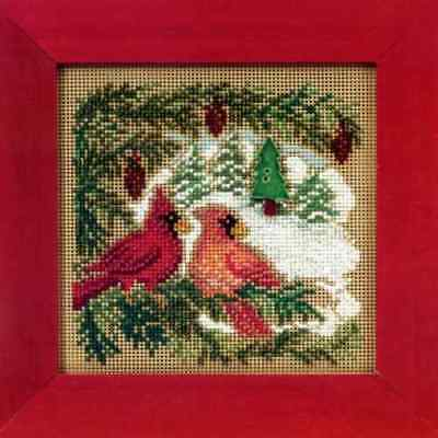 $11.49 • Buy MILL HILL Buttons Beads Kit Counted Cross Stitch CARDINAL FOREST MH14-0301
