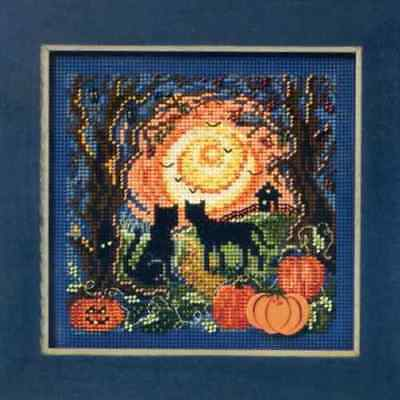 $11.49 • Buy MILL HILL Buttons Beads Kit Counted Cross Stitch MOONLIT KITTIES MH14-1206