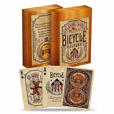 Bicycle Bourbon 808 Proof Poker Playing Cards Deck By USPCC • 7.99£
