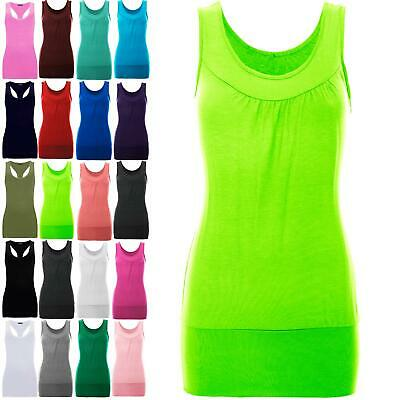 £4.99 • Buy Womens Celeb Sleeveless Ruched Vest Ladies Gathered Neck Ruched Stretch Long Top