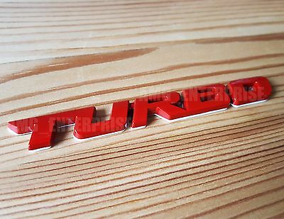 £5.10 • Buy RED Metal Chrome 3D TURBO Emblem Badge Sticker For Vauxhall Astra Corsa Insignia