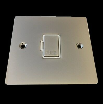 Chelsea Pearl Nickel Unswitched Fused Spur Connection Unit 13 Amp F6-PW Flat • 4.95£