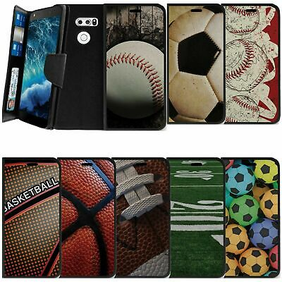 AU14.62 • Buy For LG V30 (2017) Wallet And Kickstand Case W/ Wrist Strap Slots Various Sports