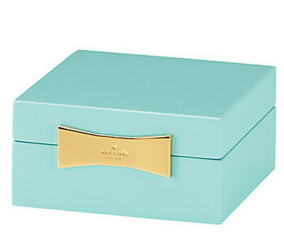 $ CDN49.47 • Buy Kate Spade GARDEN DRIVE Square Jewelry Box Turquoise Lacquer New Boxed