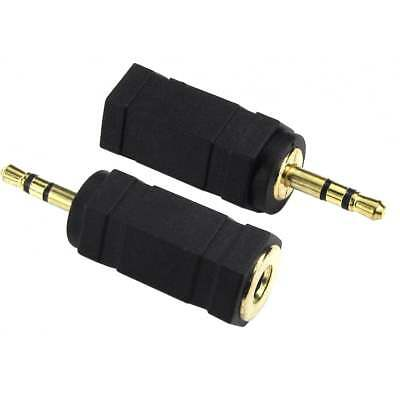 3.5mm Jack Stereo Socket To 2.5mm Jack Plug Audio Adaptor Adapter Converter • 1.69£