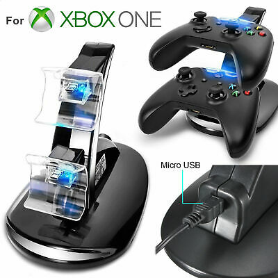 $13.97 • Buy LED Dual Fast Charging Dock Station Charger For Xbox One / Xbox One S Controller