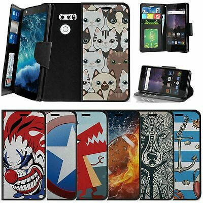 AU14.62 • Buy For LG V30 | LG V30 Plus Wallet Case W/ Strap Card Slots Stand - Animal Designs