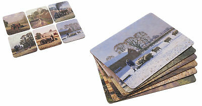 £17.99 • Buy Set Of 6 Farm Country Life Cork Backed Table Mats Or Coasters Placemats UK Stow