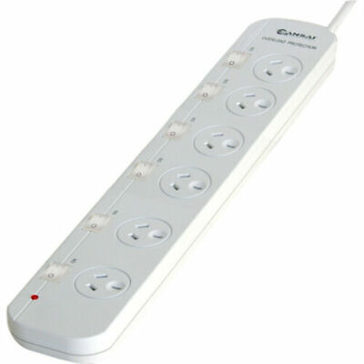 AU33.05 • Buy 6 Way Power Board Wide Spacing Individually Switched